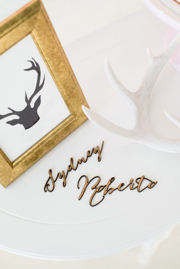 wooden name laser cut placecards