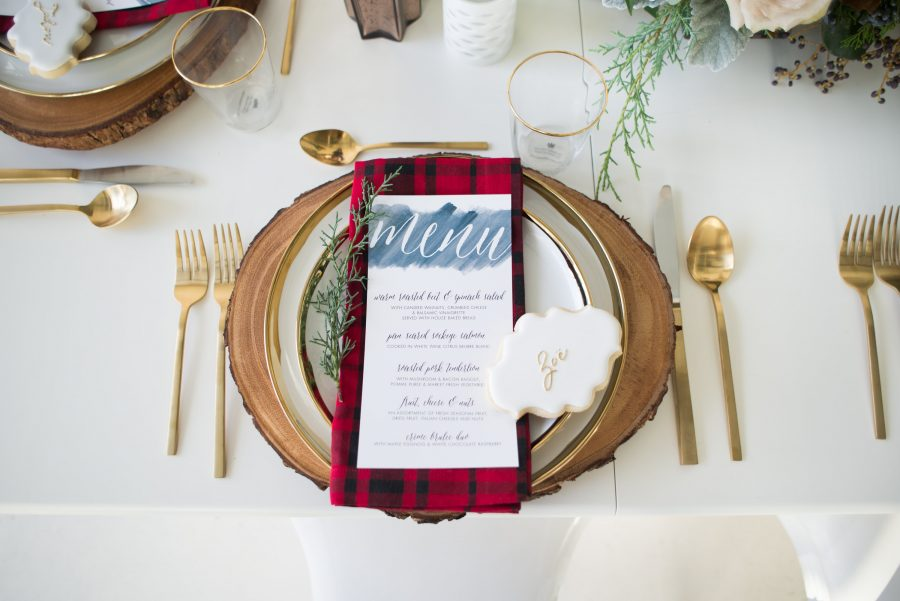 christmas holiday tablescape