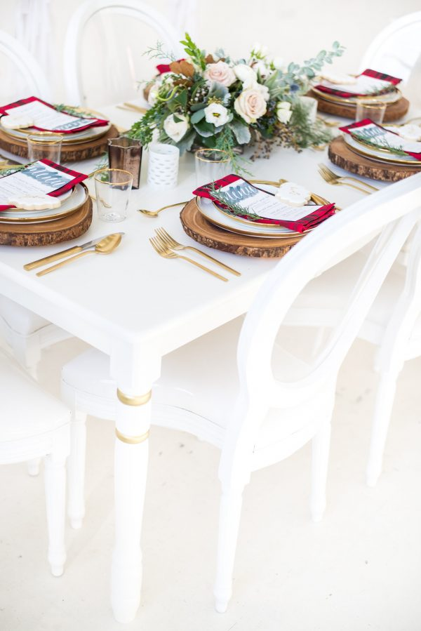 holiday party tablescape